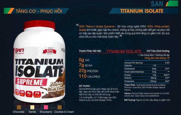 SAN titanium isolate
